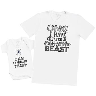 OMG I Have Created A Beast - Flying Beast - Mens T Shirt & Baby Bodysuit