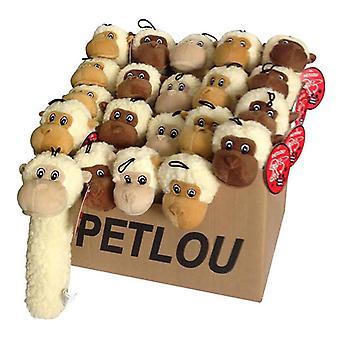 """PDQ 24Piece - Fleece Monkey Stick 11"""" Dog Toy"""
