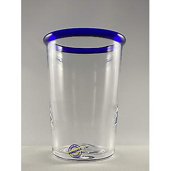 Bergdala Hyttan - Blue Edge - 6 pcs Juice Glass Design