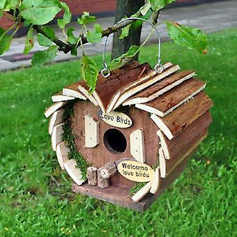 Hängande trä insekt Bee fågel ekorre Hotel House Box Nest Garden att hålla nya