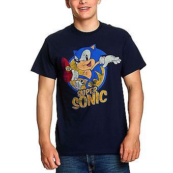 Miesten Sonic the Hedgehog Super Sonic Distressed T-paita