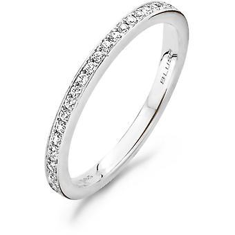 Ring Blush 11199WZI - White gold ring and zirconium oxides serti grains 1/9mm Women