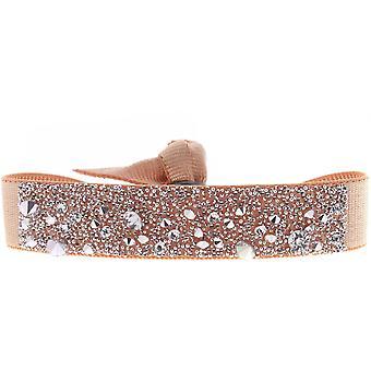 Bracelet Les Interchangeables A39571 - Bracelet Tissu Orange Cristaux Swarovski Femme