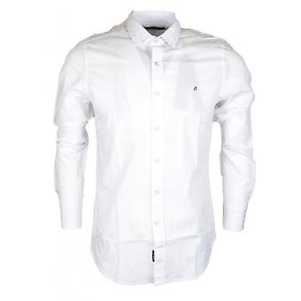 Replay Slim Fit wit katoenen Shirt