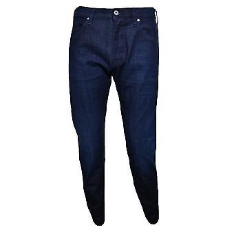 アルマーニ ジーンズ メンズ J45 暗い青いスリム フィット ジーンズ