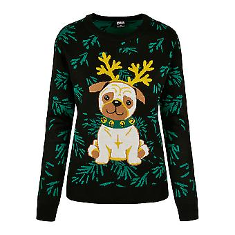 Urban Classics Damen Sweatshirt Pug Christmas