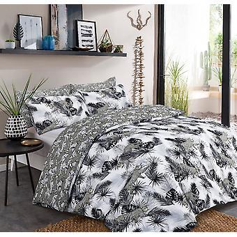 Leopard Jungle Monochrome Bedding Set