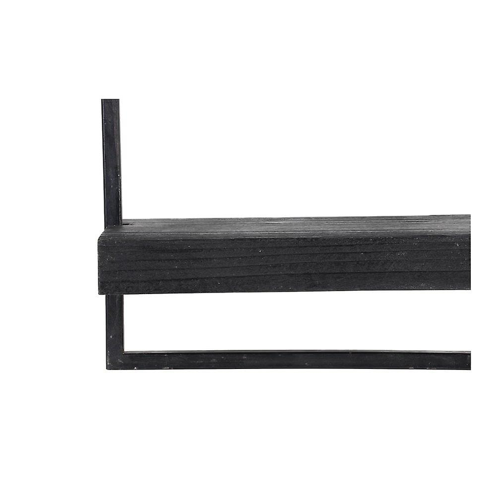 Light & Living Wall Shelf 50x15x50cm Maddison Wood Black