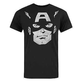 Jack Of All Trades Captain America Dark Portrait Men's T-Shirt