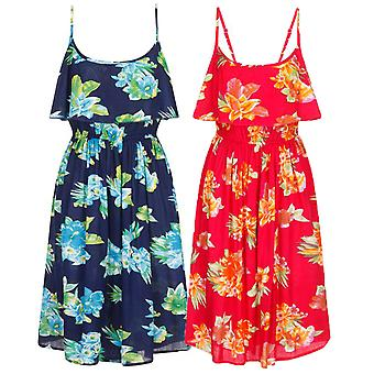 Pistachio Women's Tropical Floral Print Pretty Summer Dress