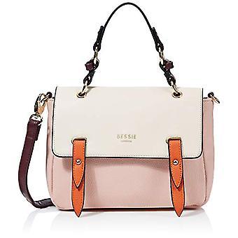 BESSIE LONDONColour Block Flap Top SatchelDonnaPink handbag (Pink)8x21x24.7 Centimeters (W x H x L)