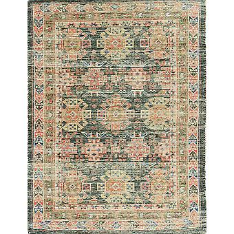 2'x4' Charcoal Hand Woven Traditional Indoor Accent Rug