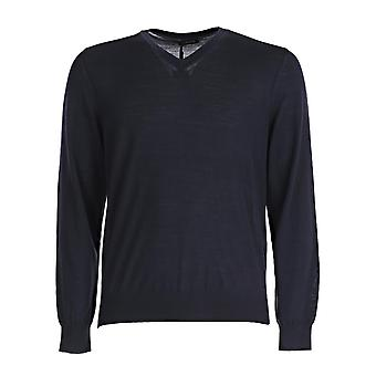 Z Zegna Vrm96zz100b09 Men's Blue Cotton Sweater