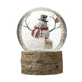 Heaven Sends Snowman Design Snowglobe