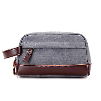 Classic Toiletry bag of fabric and leather