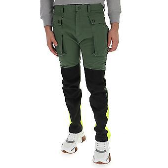 Griffin Jw1913wgreenenzymelavaggio Uomini's Pantaloni di cotone nero/verde