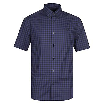 Fred Perry Carbon Blå Gingham Shirt