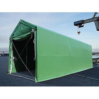 Lagertelt PRO XL 4x12x3,5x4,59m, PVC, Grøn