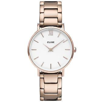 Cluse Watches Cw0101203027 Minuit White & Rose Gold Stainless Steel Ladies Watch