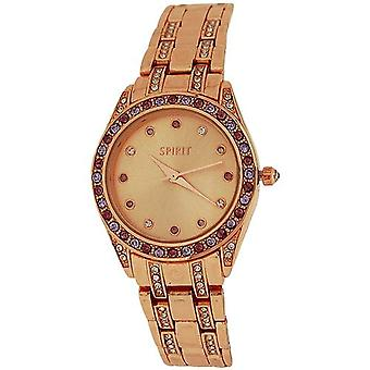 Spirit Ladies Elegant Crystal Bezel Rose Goldtone Bracelet Bracelet Strap Watch ASPL89
