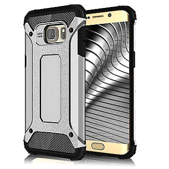 Shell para Samsung Galaxy S6 Armor Silver Protection Case