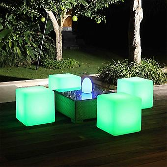 Modern Home LED Glowing Cube Box Stool w/Infrared Remote Control - 16