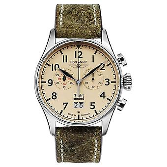 Iron Annie Flight Control Quartz | Olive Green Strap | Beige Dial 5186-5 Watch