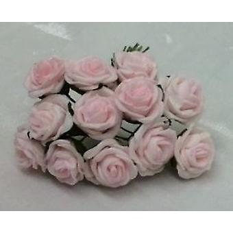 Artificial Colourfast Cottage Rose Bud Bunch, 12 Flowers