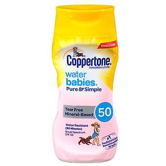 Coppertone water babies pure & simple mineral sunscreen, spf 50, 6 oz