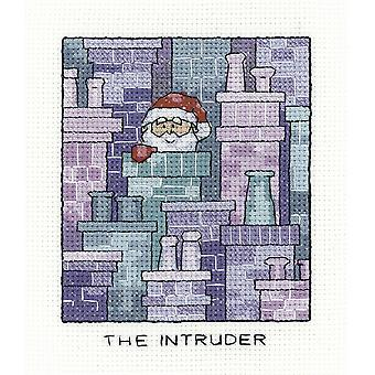 Heritage Crafts Simply Heritage Cross Stitch Kit - The Intruder