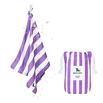 Dock & bay quick cool gym towel - brighton purple
