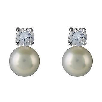 Orton West Pearl Stud Earrings Stud Earrings - Silver