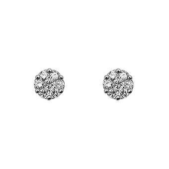 Cercei flori Cluster Diamante și 18K de aur