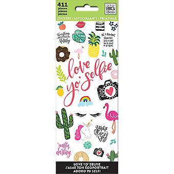 Me & My Big Ideas Stickers-Love Yo Selfie, 411/Pkg