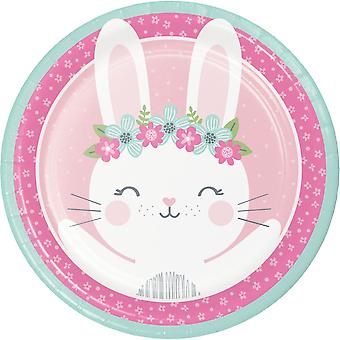 Cute Bunny Rabbit Paper Party Plates x 8