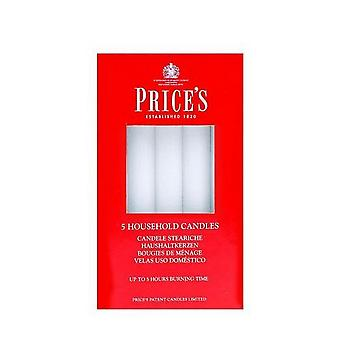 Prices Candles Household Candles (Pack Of 10)