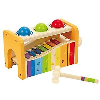 HAPE Early Melodies Pound n Tap Bench E0305 Toddler Wooden Activity Toy