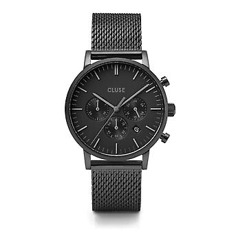 Cluse CW0101502007 Aravis Chronograph Black Mesh Wristwatch