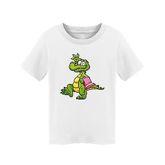 Cartoon Crocodile Going To Beach Tee Peuter's -Afbeelding door Shutterstock