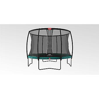 berg champion regular green 430 14ft + safety net dlx xl trampoline