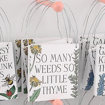 So Many Weeds So Little Thyme Hanging Plaque - Cracker Filler Gift