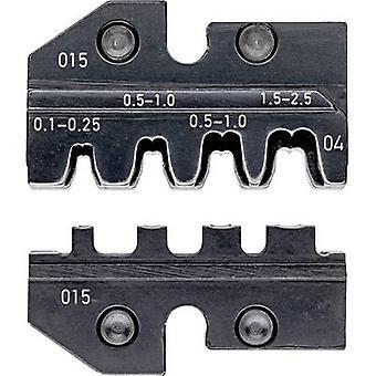 Knipex 97 49 04 Crimp inset Icke-isolerade öppna ändkontakter Passar för (tång) 2,8/4,8 mm kopplingsbredd 0,1 upp till 2,5 mm² Lämplig för märke Knipex 97