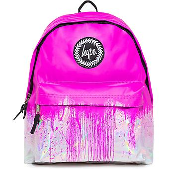 Hype Holo Drips Backpack Bag Pink 74