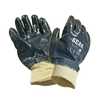Scan Nitrile Knitwrist Heavy-Duty Gloves SCAGLONIT