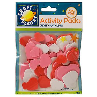 Assorted Foam Heart Shapes for Kids Crafts