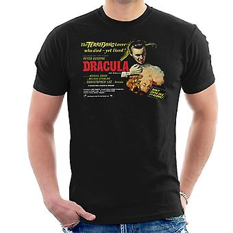 Hammer Horror Films Dracula Terrifying Lover Men's T-Shirt