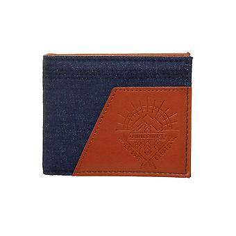 Minecraft Wallet Adventure Explore Create Logo new Official Gamer Blue Bifold