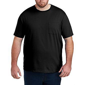 Essentials Herre's Big & Tall 2-Pakning Kortermet Crewneck T-skjorte passform av DXL passform av DXL, Svart, 3XLT