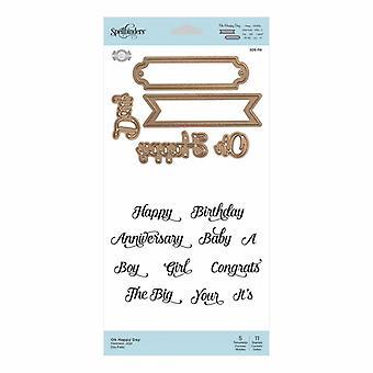 Spellbinders Stamp & Die Set Oh Happy Day