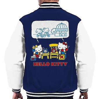 Hello Kitty And Mimmy Soda Fountain Chat Men's Varsity Jacket